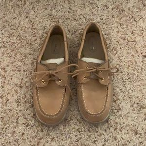 Size 9 - Sperry Topsider - Brown w/ Silver Accent